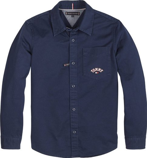 Tommy Hilfiger T-Shirt »TOMMY SOLID TWILL SHIRT L/S«