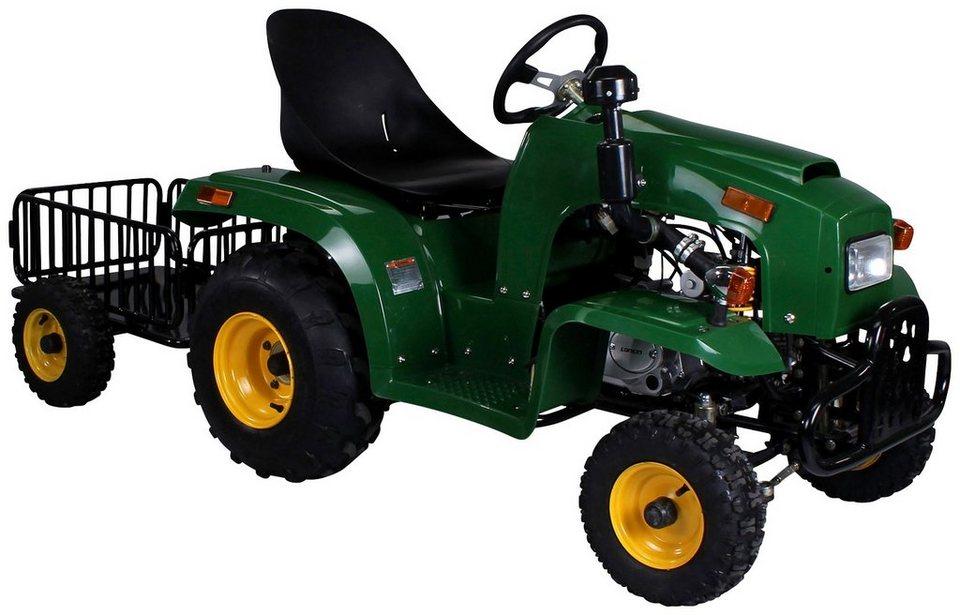 actionbikes motors mini traktor f r kinder von 7 14 jahre 110 cc mit anh nger online kaufen otto. Black Bedroom Furniture Sets. Home Design Ideas