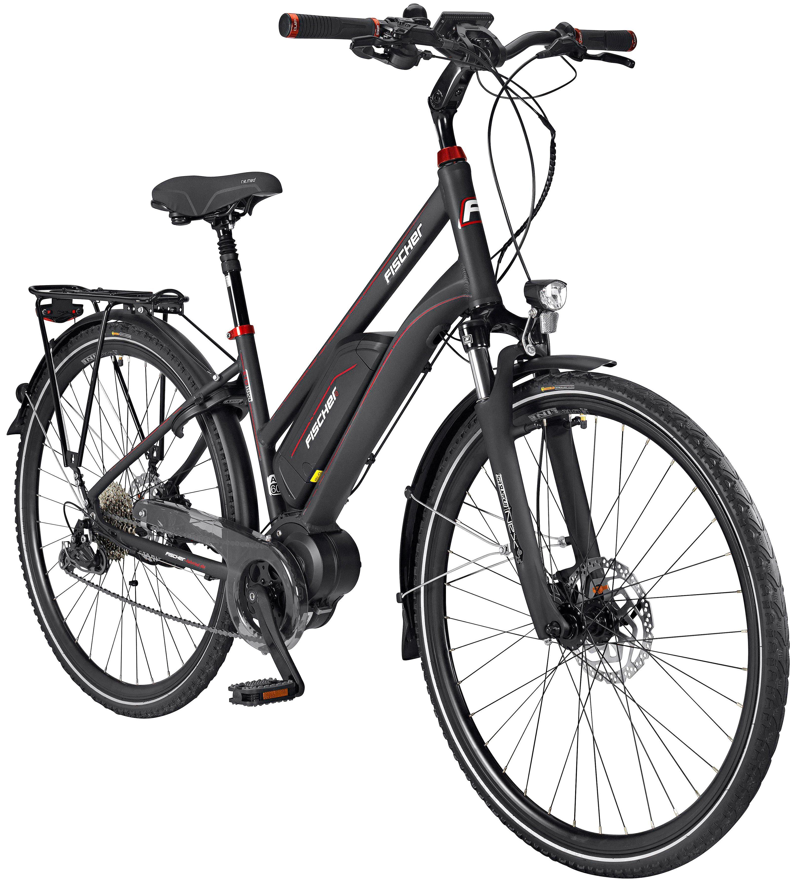 FISCHER FAHRRAEDER E-Bike Trekking Damen »ETD1820«, 28 Zoll, 9 Gänge, 422 Wh, Mittelmotor