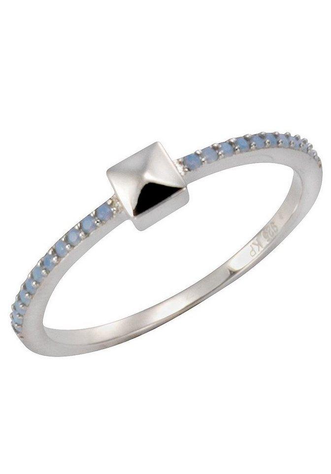 Firetti Silberring mit Kristallsteinen | Schmuck > Ringe > Silberringe | Blau | Firetti