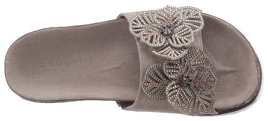 Schöner Blütenapplikation Bugatti Bugatti Pantolette Mit Pantolette fwIXqPXg