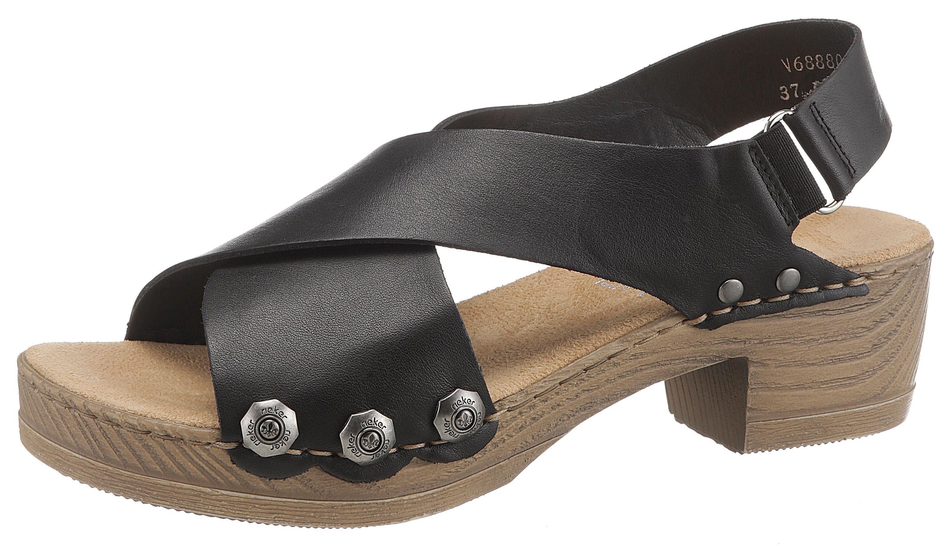 Rieker Sandalette mit angesagten Nieten, Mit kleinem Stretcheinsatz online kaufen | OTTO