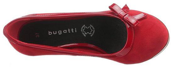 Plateaupumps Bugatti Mit Mit Schleifenapplikation Bugatti Süßer Plateaupumps B11vw
