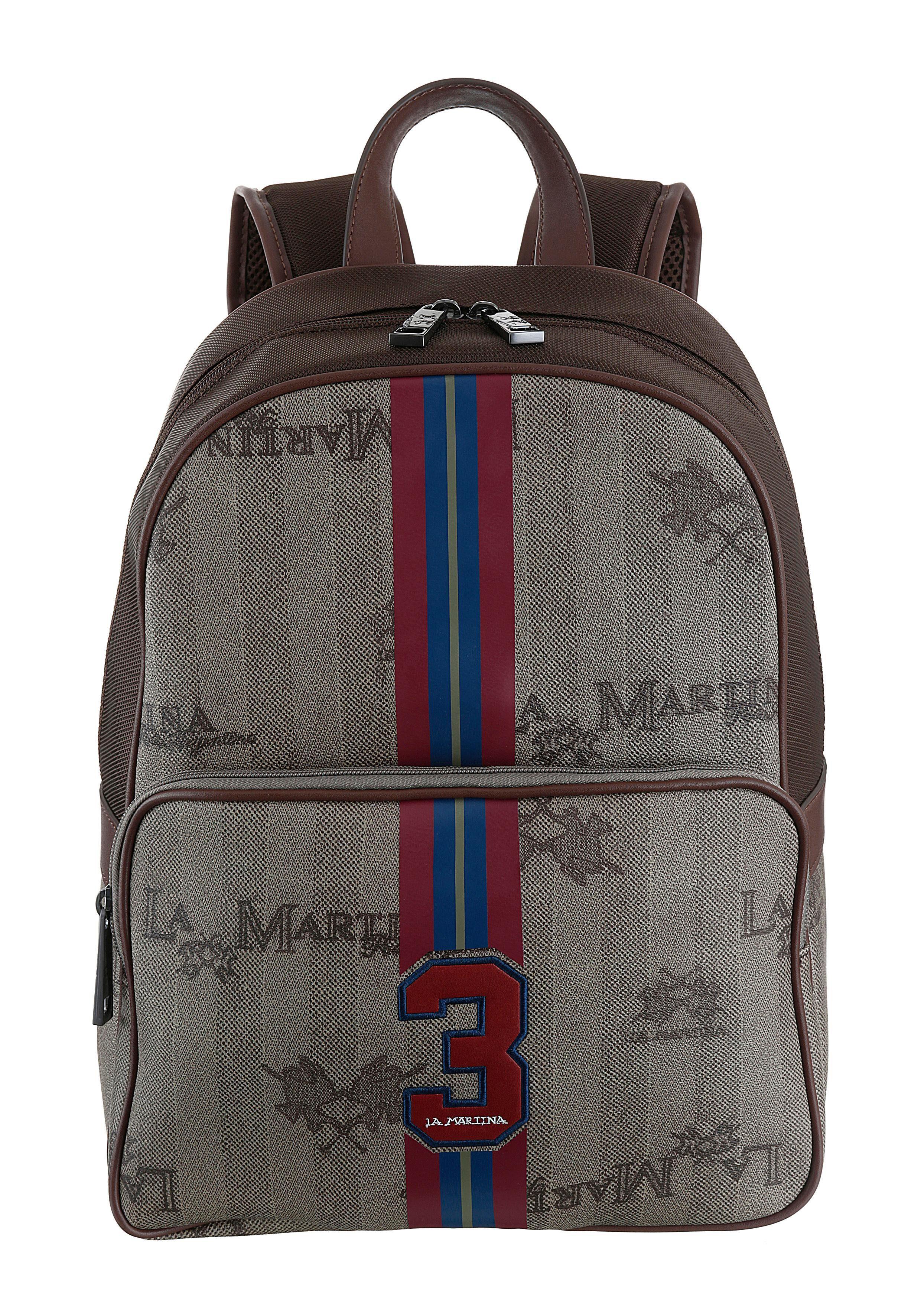 La Martina Cityrucksack, mit gepolstertem Rücken und Schultergurte