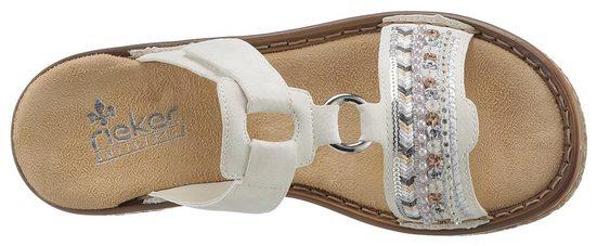 Rieker Pantolette Mit Pailetten- Und Perlenbesatz