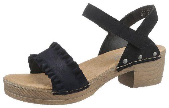 Rieker Sandalette mit modischen Rüschen
