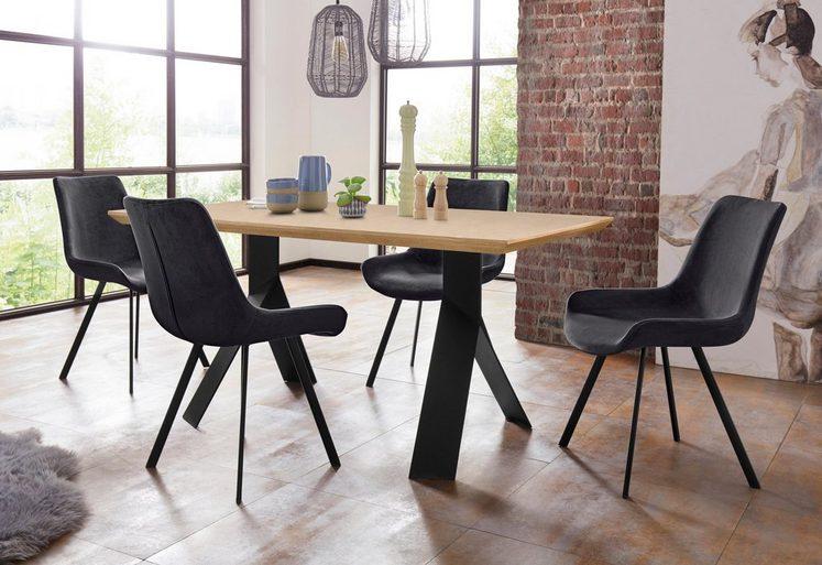 Homexperts Essgruppe »Rose-Bridge«, (Set, 5 tlg), Tisch - Breite 160 cm + 4 Stühle