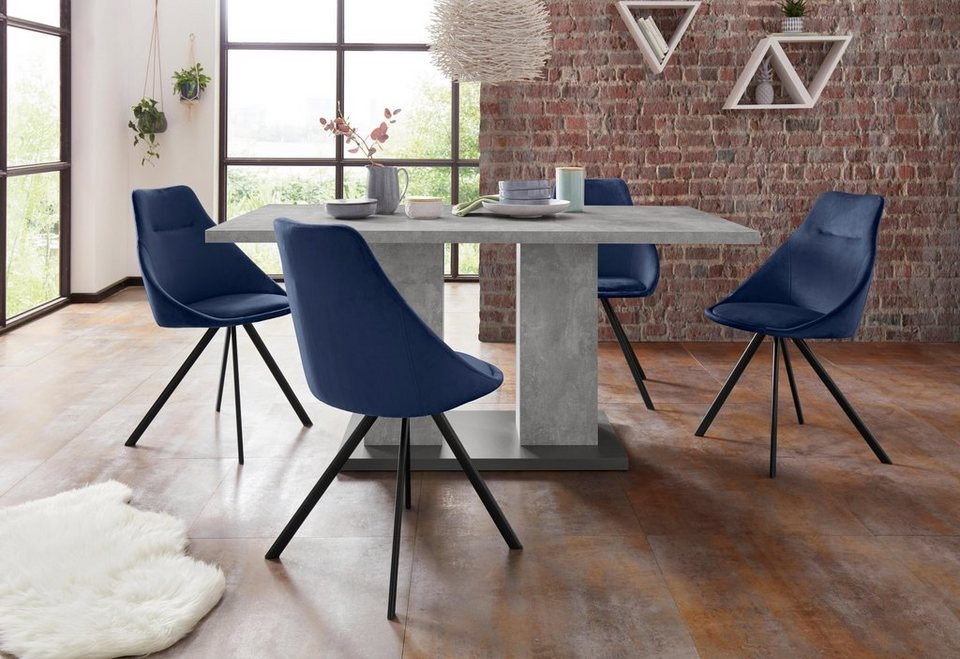 Homexperts Essgruppe Nela Tavia Tisch Breite 140 Cm 4 Stühle
