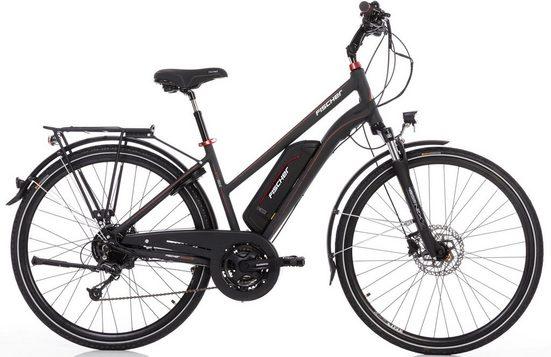 FISCHER Fahrräder E-Bike »ETD 1822«, 24 Gang Shimano Deore Schaltwerk, Kettenschaltung, Heckmotor 250 W