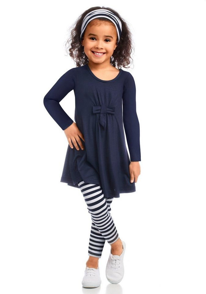 3dbe782cf56461 Arizona Kleid, Leggings & Haarband (3-tlg) maritim geringelt online ...