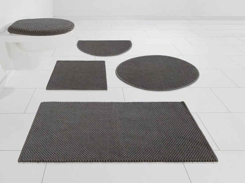 Badematte »Lovro« my home, Höhe 10 mm, beidseitig nutzbar, schnell trocknend, strapazierfähig, beidseitig verwendbar
