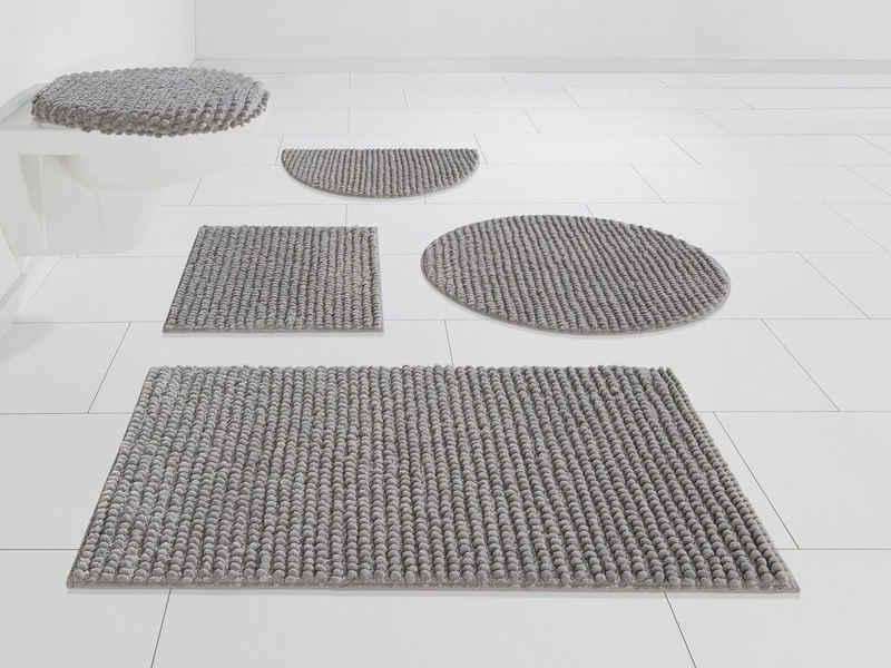 Badematte »Renat« andas, Höhe 15 mm, Badteppich, Badgarnitur in Pastell, waschbar, geeignet für Fußbodenheizung, schnell trocknend