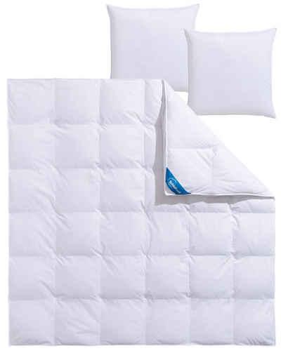 Federbettdecke, »Mila«, Schlafwelt, Füllung: 50% Daunen, 50% Federn, Bezug: 100% Baumwolle, Extra hoher Außensteg für viel Volumen
