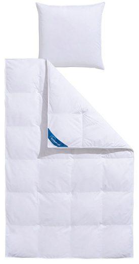 Federbettdecke, »Mila«, Schlafwelt, warm, Füllung: 85% Federn, 15% Daunen, Bezug: 100% Baumwolle, (1-tlg), Extra hoher Außensteg für viel Volumen