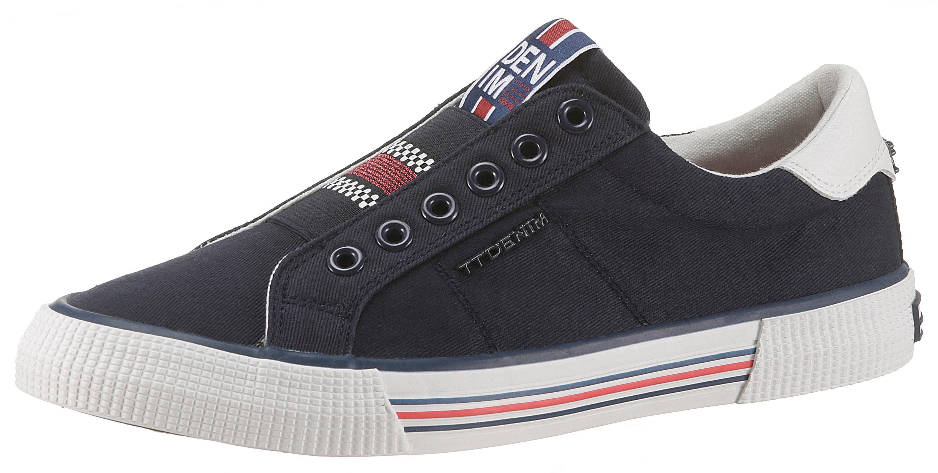 TOM TAILOR Slip On Sneaker mit Gummizug, Obermaterial aus softem Textil online kaufen | OTTO