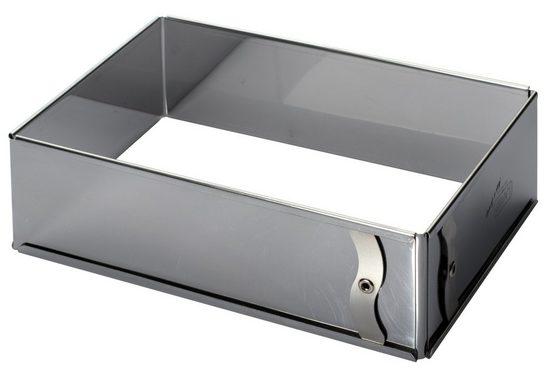 LARES Backform »6028, eckig - verstellbare Größe«, aus rostfreiem Edelstahl, Made in Germany