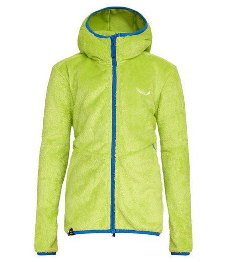 Salewa Fleecejacke »SALEWA Fleece-Jacke vielseitige sowie kuschelige Kinder Trekking-Jacke mit Kapuze Outdoor-Jacke Grün«