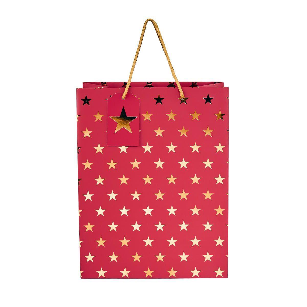 BUTLERS X-MAS »Geschenktüte Sterne Höhe 33,5 cm«