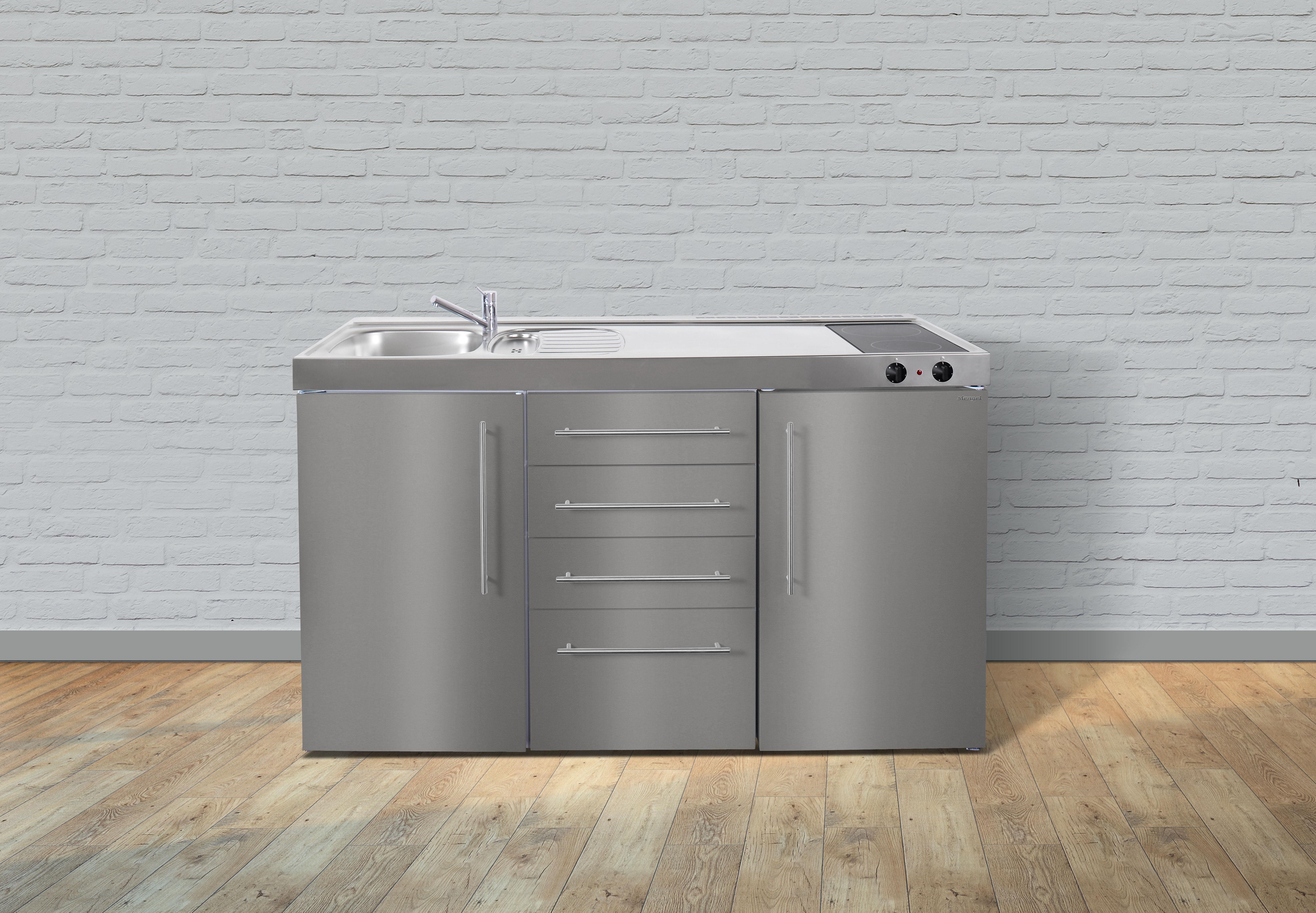 Kühlschrank Schubladen : Stengel metall miniküche premiumline mps kühlschrank