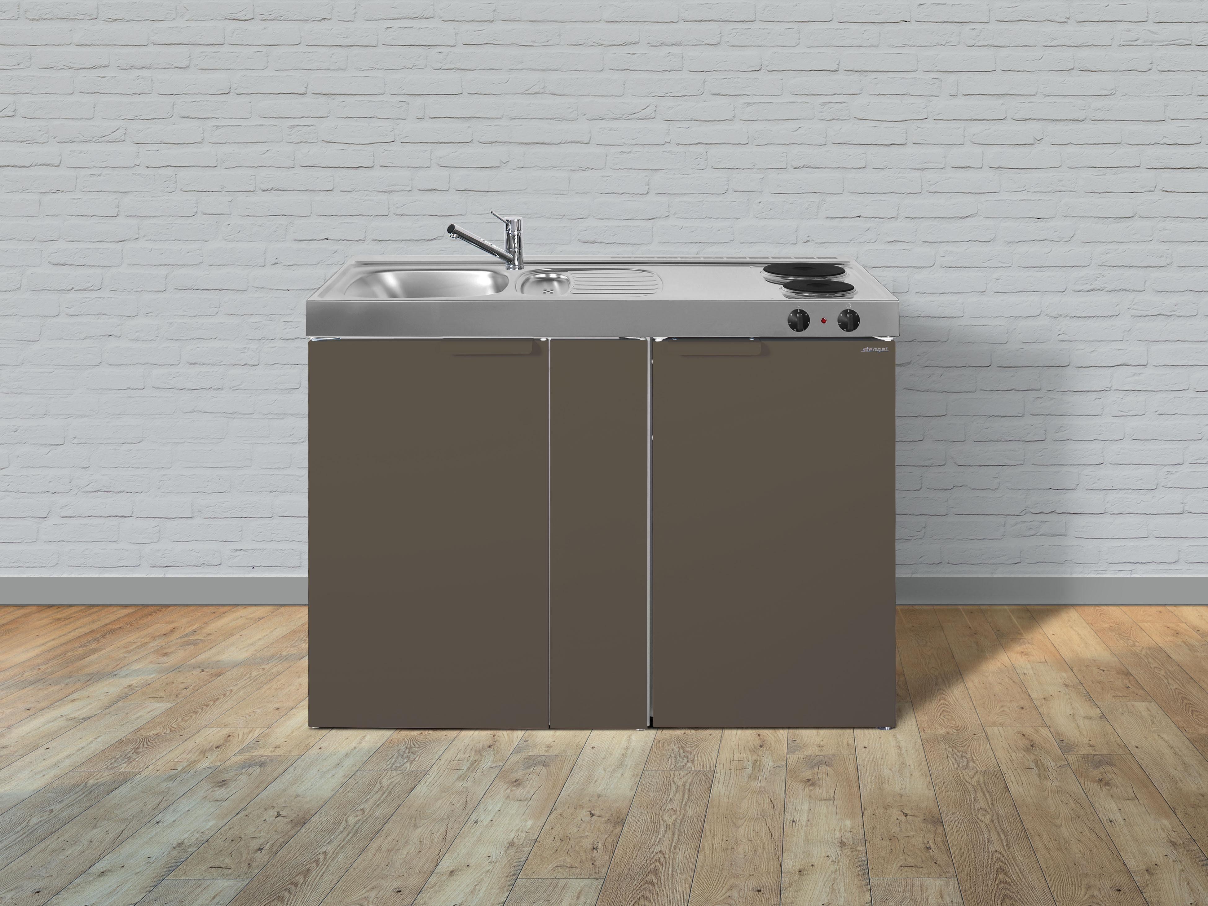 Miniküche Mit Kühlschrank Ohne Kochfeld : Stengel metall miniküche kitchenline mk kühlschrank elektro
