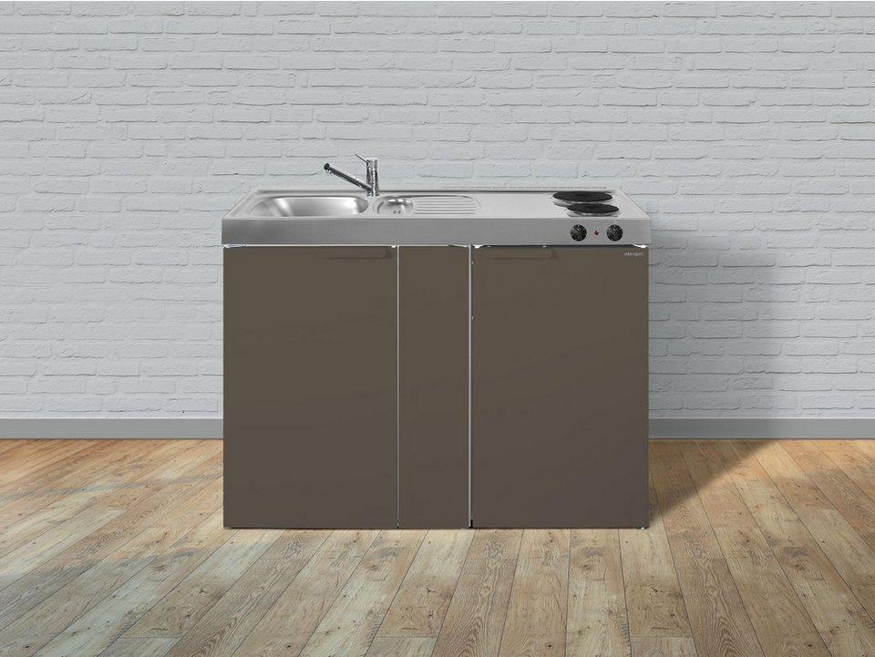 Miniküche 120 Cm Breit Mit Kühlschrank : Stengel metall miniküche kitchenline mk 120 kühlschrank elektro