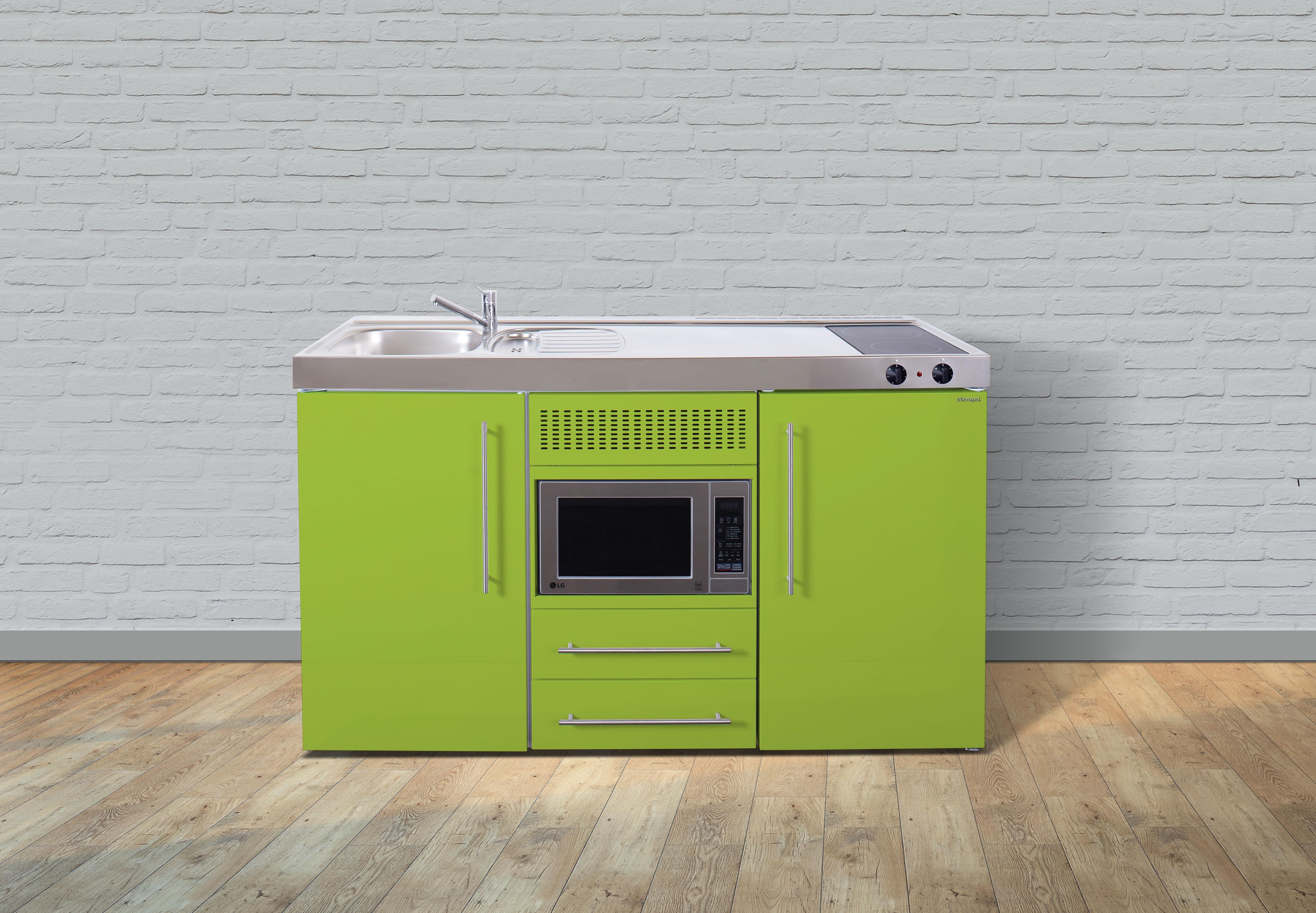 Miniküche Mit Kochfeld Und Kühlschrank : Stengel metall miniküche mpm kühlschrank mikrowelle er
