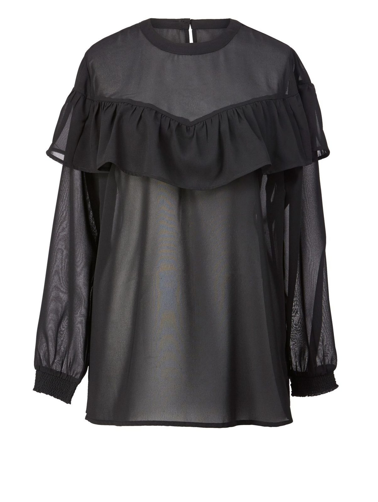 Angel of Style by Happy Size Bluse mit Volant