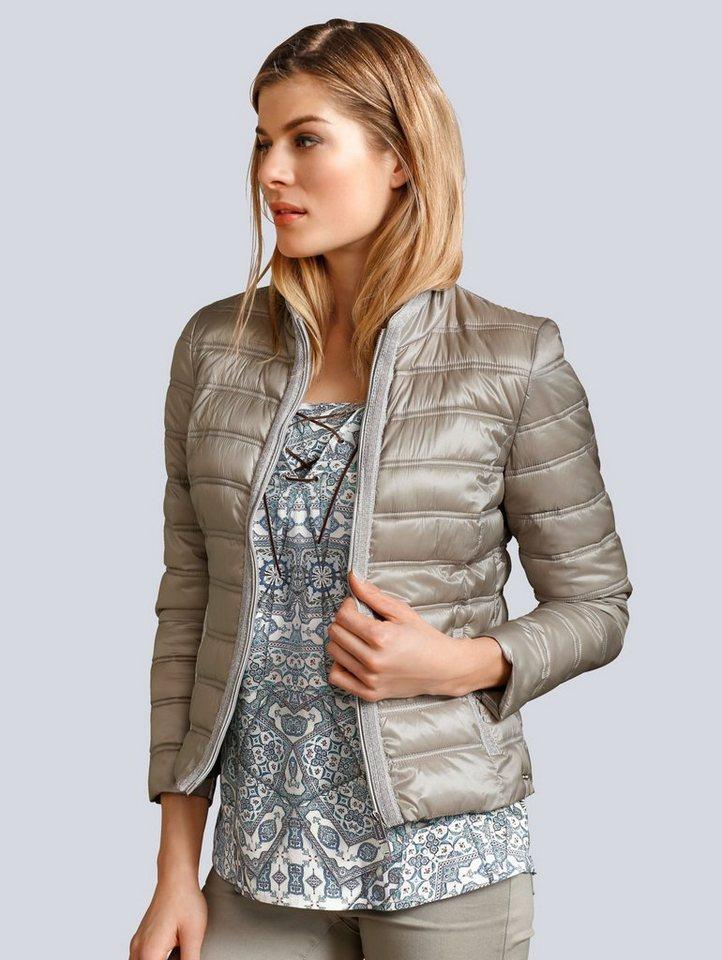Alba Moda Jacke mit Schmuckbesatz an der vorderen Blende und Tascheneingri 0124934690