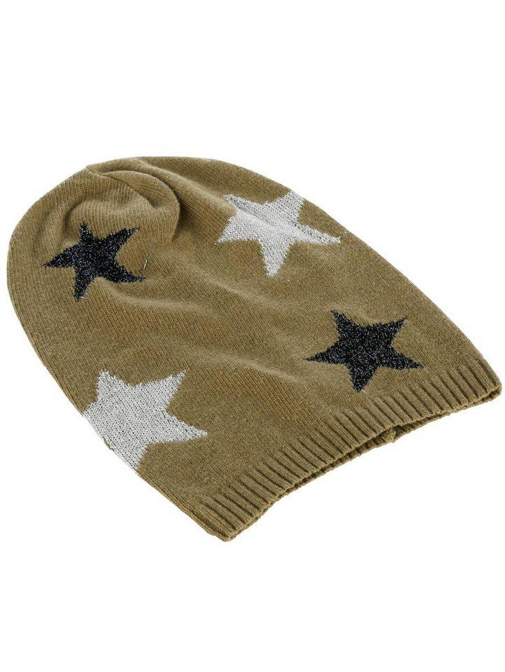 Damen Alba Moda Strickmütze mit Lurex-Sternen bunt,mehrfarbig | 04055715486232