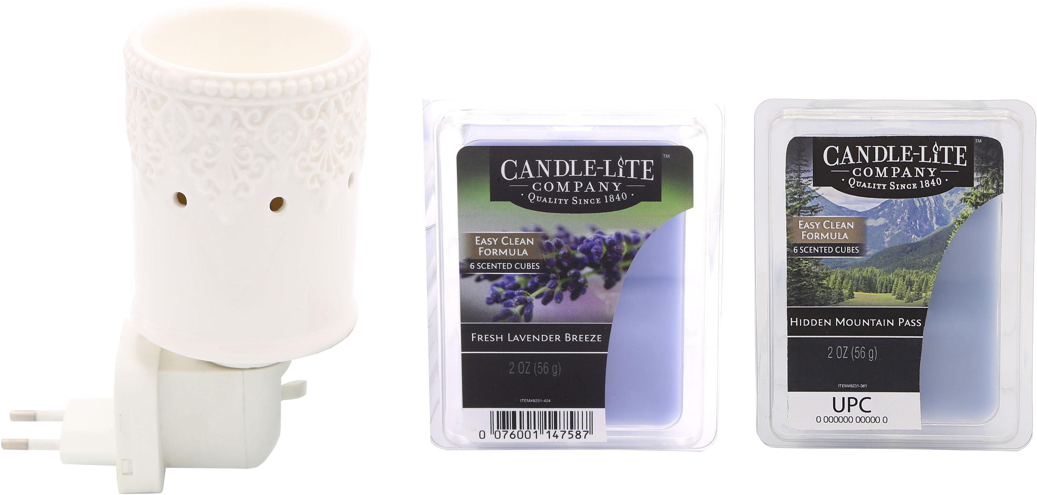 Candle-lite™ Elektronisches Duftlampen-Set, Nachtlicht inklusive 2x Duftwachswürfel, »Britta«