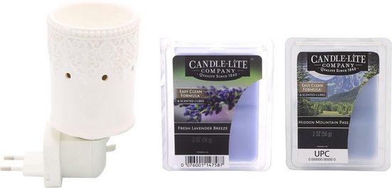 Candle-lite™ Duftlampe »Britta« (Set, Nachtlicht inklusive 2x Duftwachswürfel), Elektronisches Duftlampen-Set