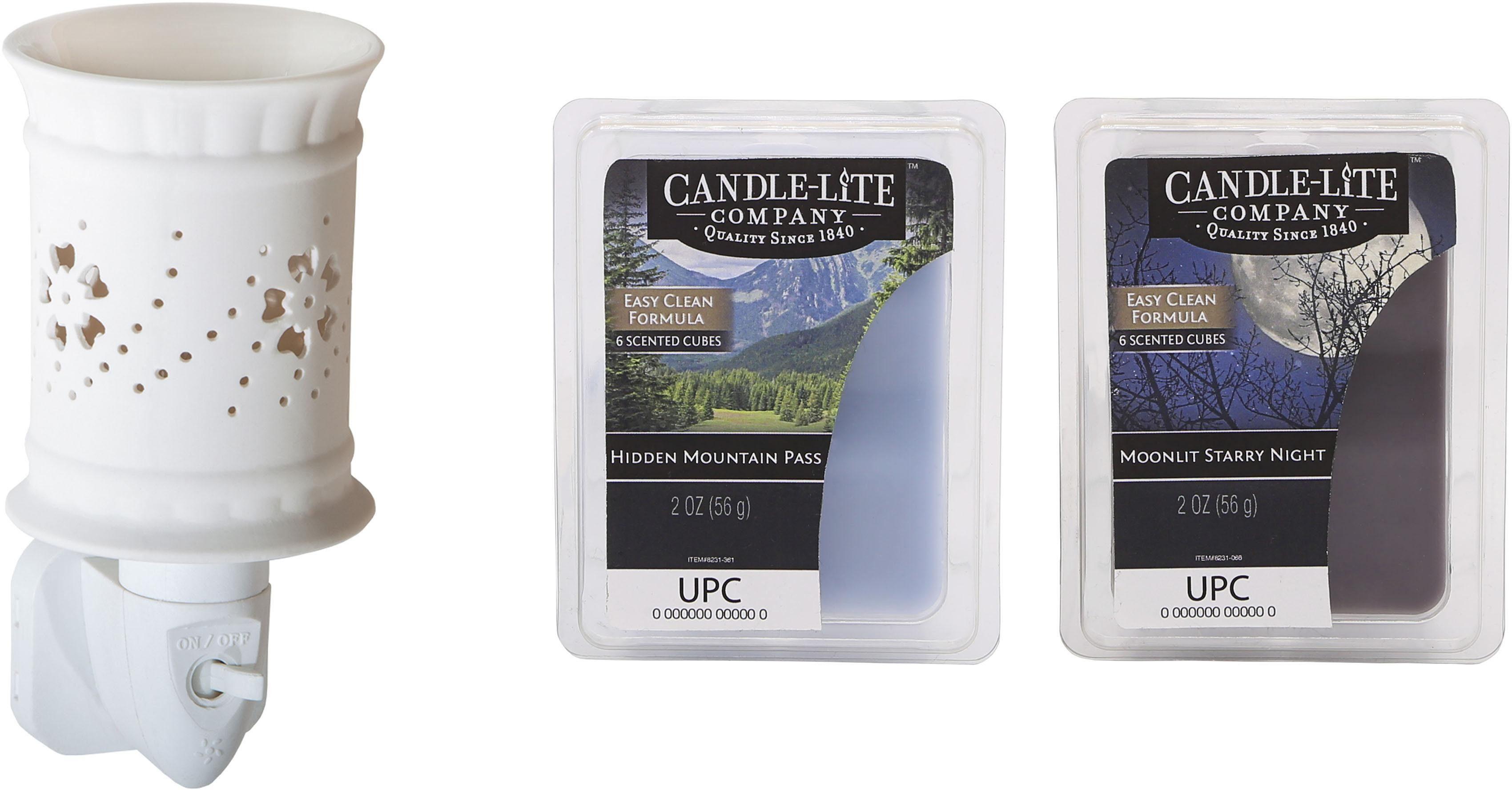 Candle-lite™ Elektronisches Duftlampen-Set, Nachtlicht inklusive 2x Duftwachswürfel , »Lexie«