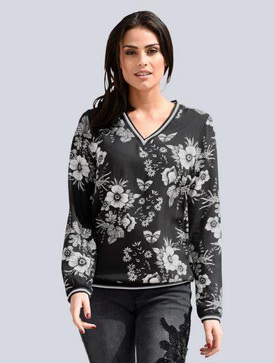Alba Moda Bluse im angesagten Blumenprint