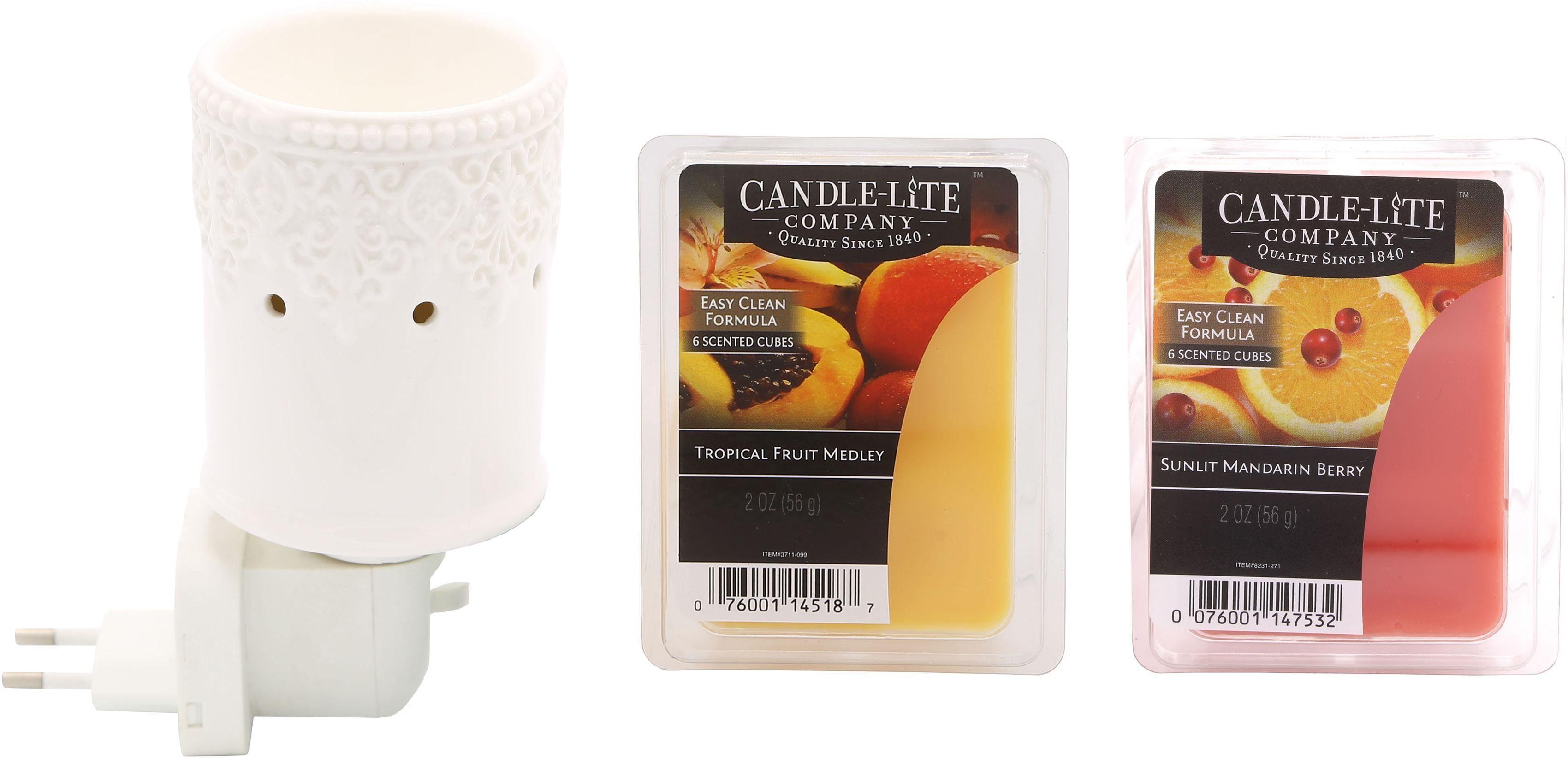 Candle-lite™ Elektronisches Duftlampen-Set, Nachtlicht inklusive 2x Duftwachswürfel , »Sena«