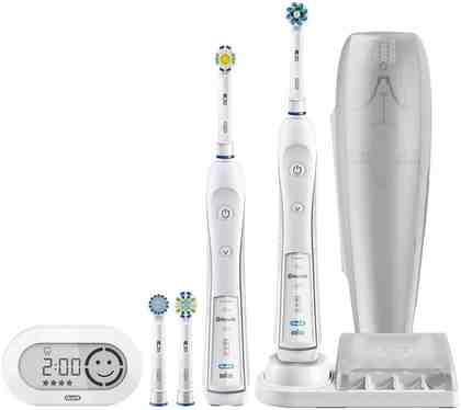 Oral B Elektrische Zahnbürste SmartSeries 6500, Aufsteckbürsten: 4 St., Mit Bonus Handstück