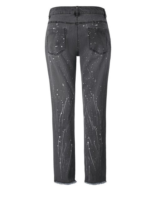 Hosen - Angel of Style by Happy Size Slim Fit Jeans knöchellang › grau  - Onlineshop OTTO