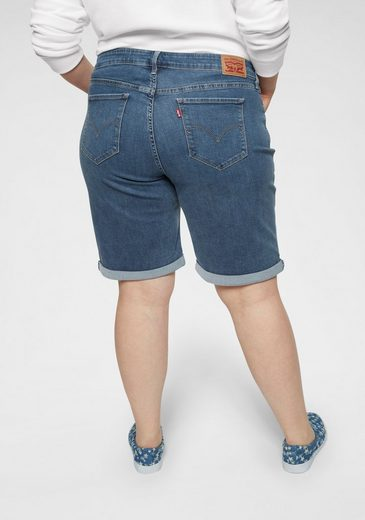Levi's® Plus Jeansbermudas »Shaping Bermudas« Shaping Bermuda mit Umschlag