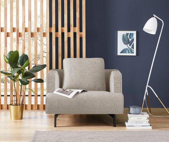 hülsta sofa Sessel »hs.440«, wahlweise in Stoff oder Leder, Spangenfüße umbragrau