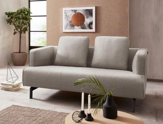 hülsta sofa 2-Sitzer »hs.440«, wahlweise in Stoff oder Leder, Spangenfüße umbragrau