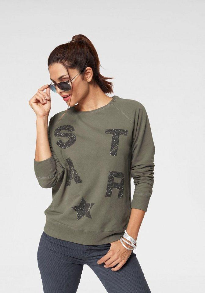STOOKER WOMEN Sweatshirt Susan, mit Statement-Print und kleinen Nieten