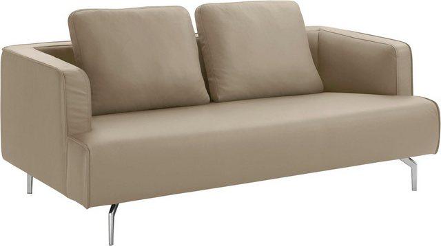 Sofas - hülsta sofa 3 Sitzer »hs.440«, wahlweise in Stoff oder Leder, Gussfüße poliert  - Onlineshop OTTO