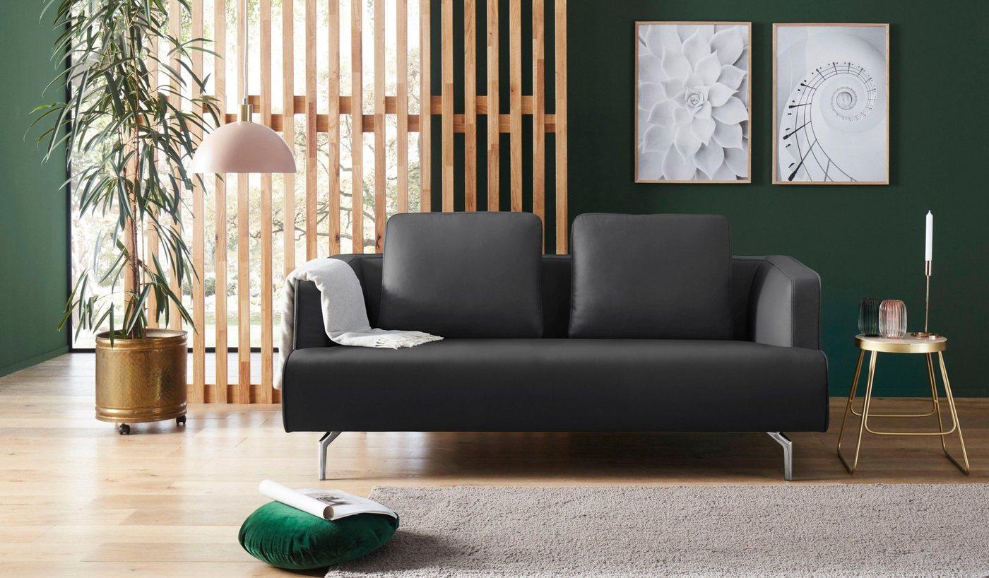 hülsta sofa 3-Sitzer »hs.440«, wahlweise in Stoff oder Leder, Gussfüße poliert | Wohnzimmer > Sofas & Couches > 2 & 3 Sitzer Sofas | Blau | hülsta sofa