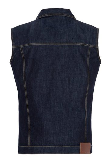KingKerosin Jeansweste mit kontrastierender Absteppung