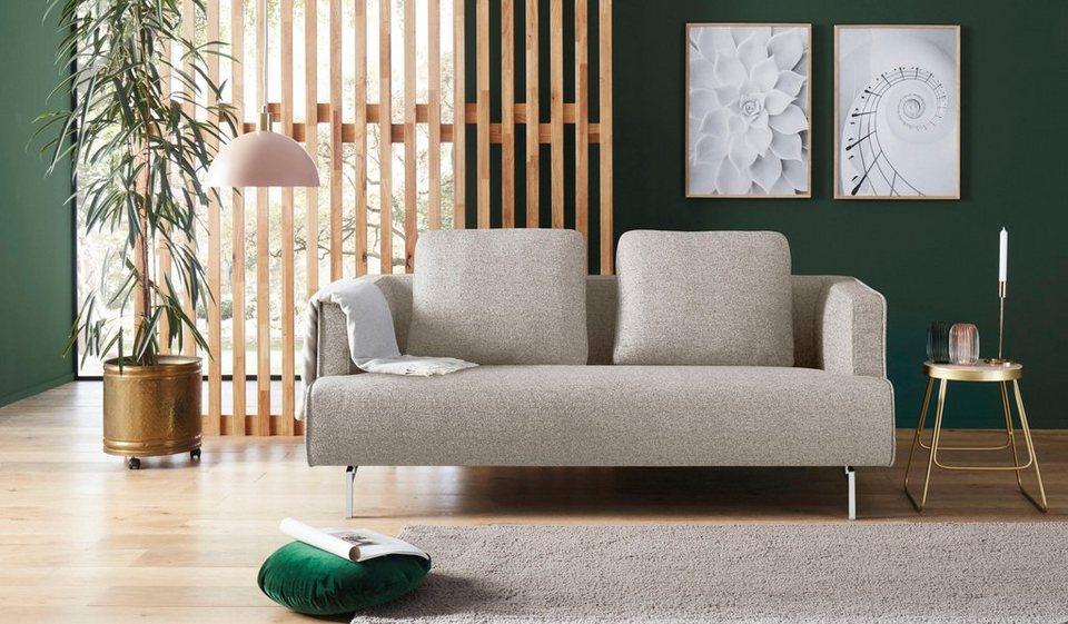 Seriøst hülsta sofa 3-Sitzer »hs.440«, wahlweise in Stoff oder Leder BE-55
