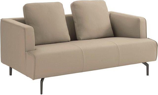 Sofas - hülsta sofa 2 Sitzer »hs.440«, wahlweise in Stoff oder Leder, Gussfüße umbragrau  - Onlineshop OTTO