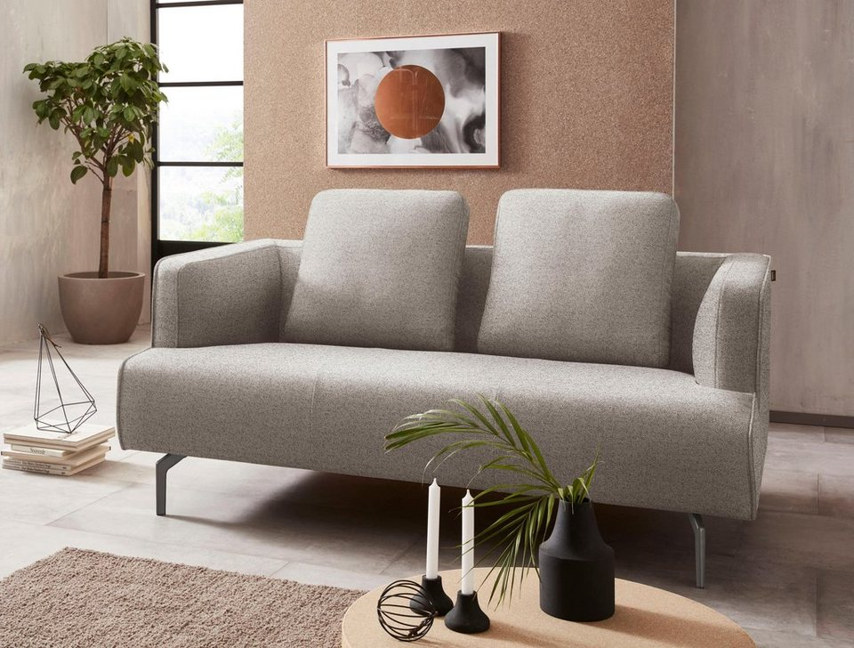 h lsta sofa 2 sitzer sofa wahlweise in stoff oder leder gussf e umbragrau online. Black Bedroom Furniture Sets. Home Design Ideas