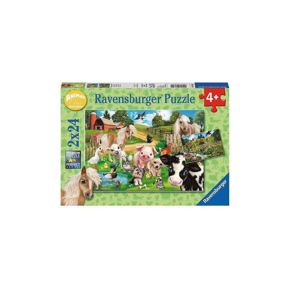 Ravensburger Puzzleset 2 x 24 Teile Tierfreunde / Animal Club online kaufen