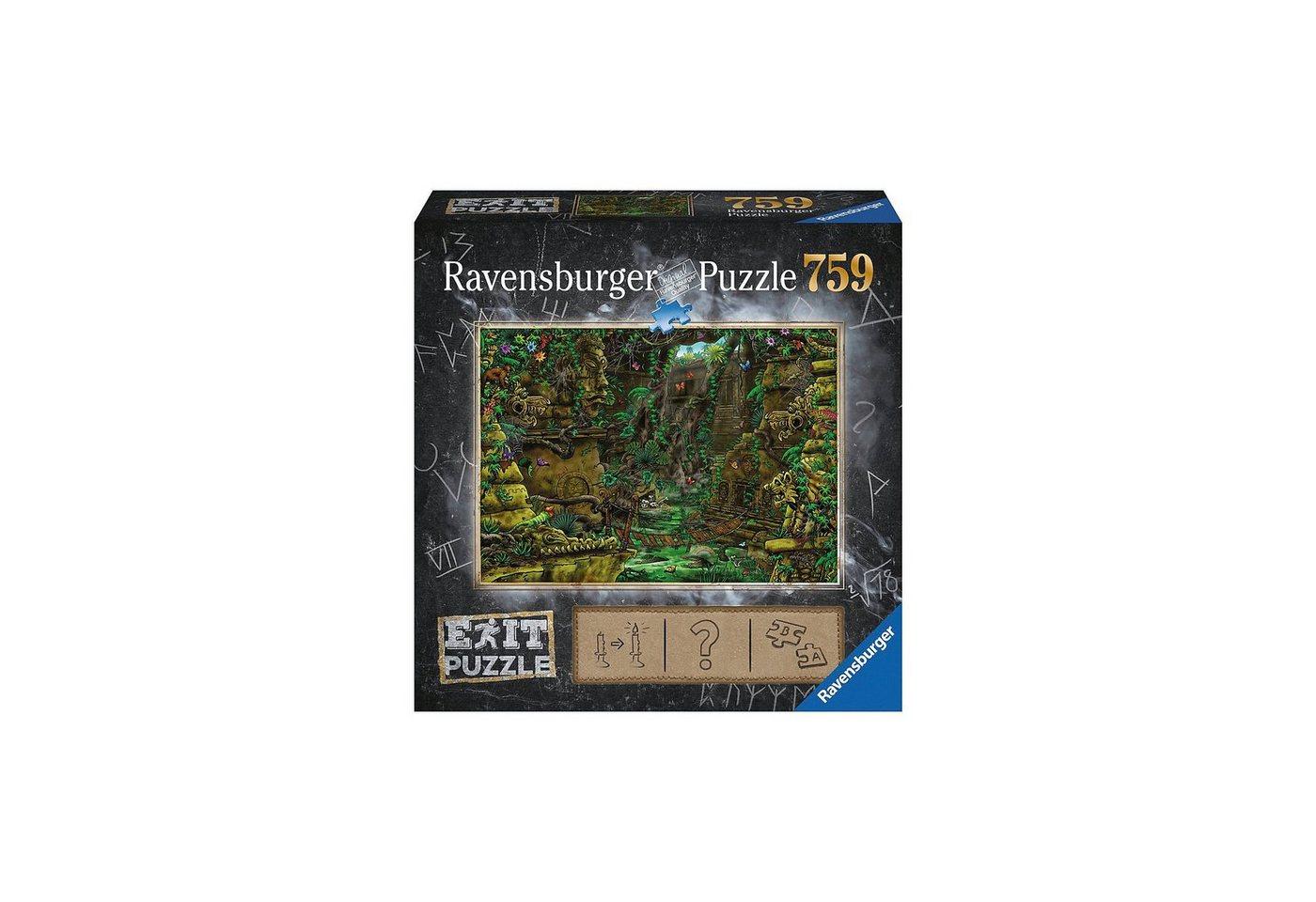 Ravensburger EXIT Puzzle 759 Teile, 70x50 cm, Exit 2: Tempel in Ankor