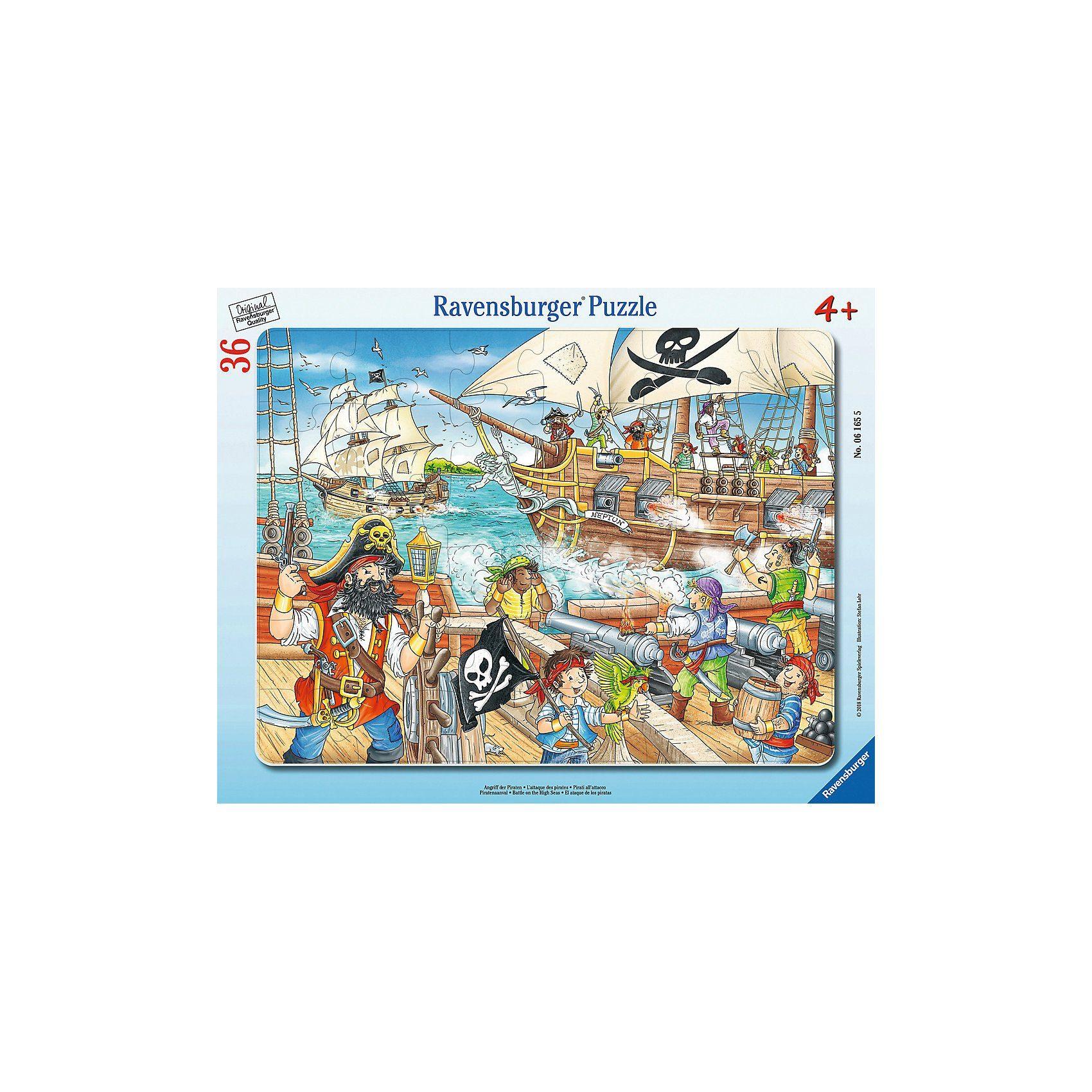 Ravensburger Rahmenpuzzle 36 Teile Angriff der Piraten