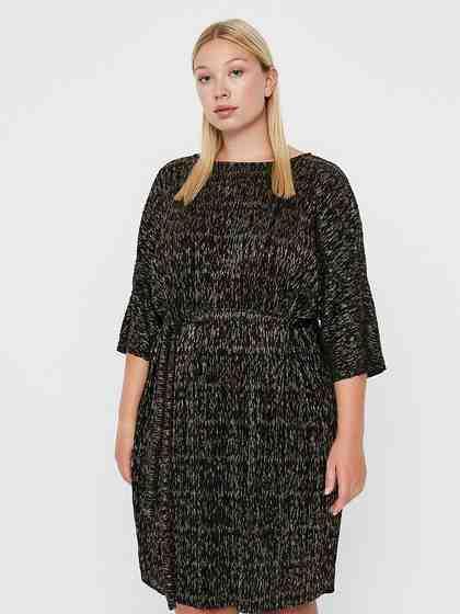JUNAROSE Gold Plissee Kleid